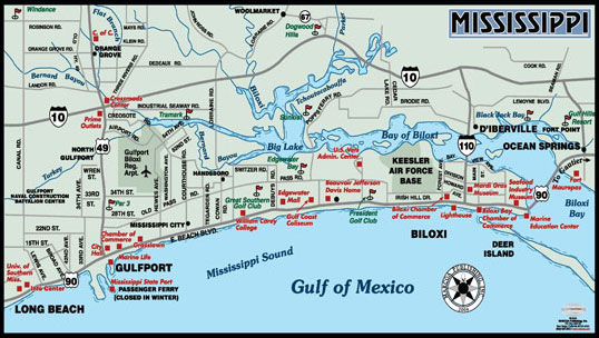 Map Of Biloxi Ms